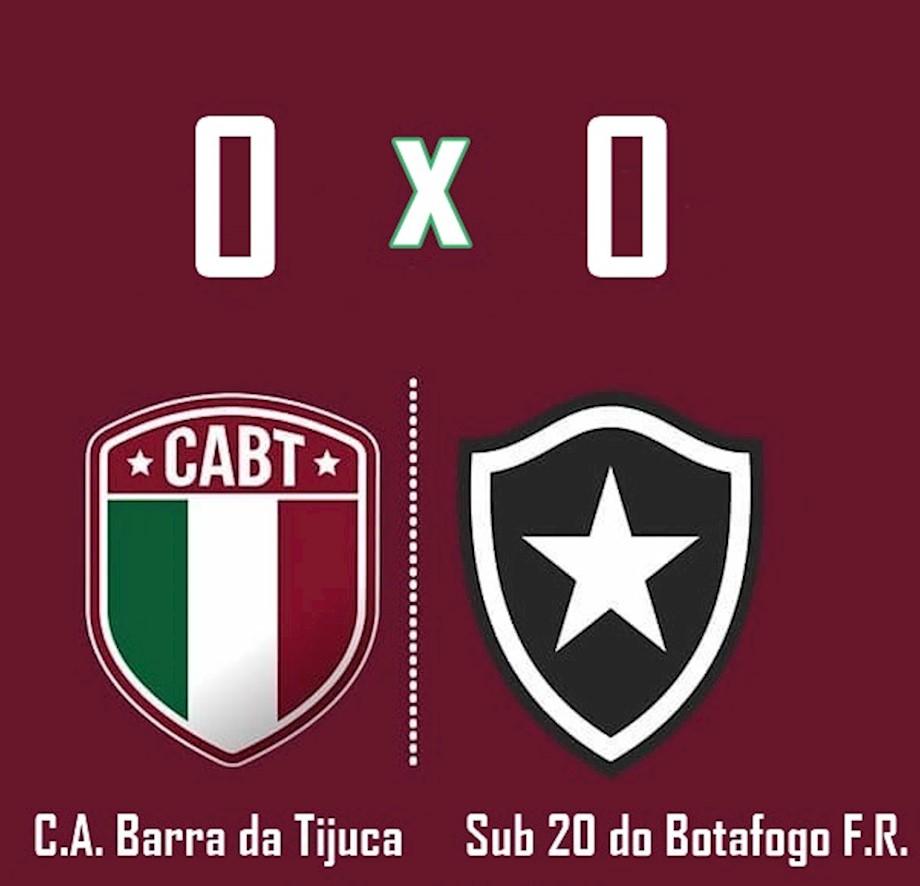 Barra empata com o Botafogo no CEFAT, em primeiro jogo treino do ano.